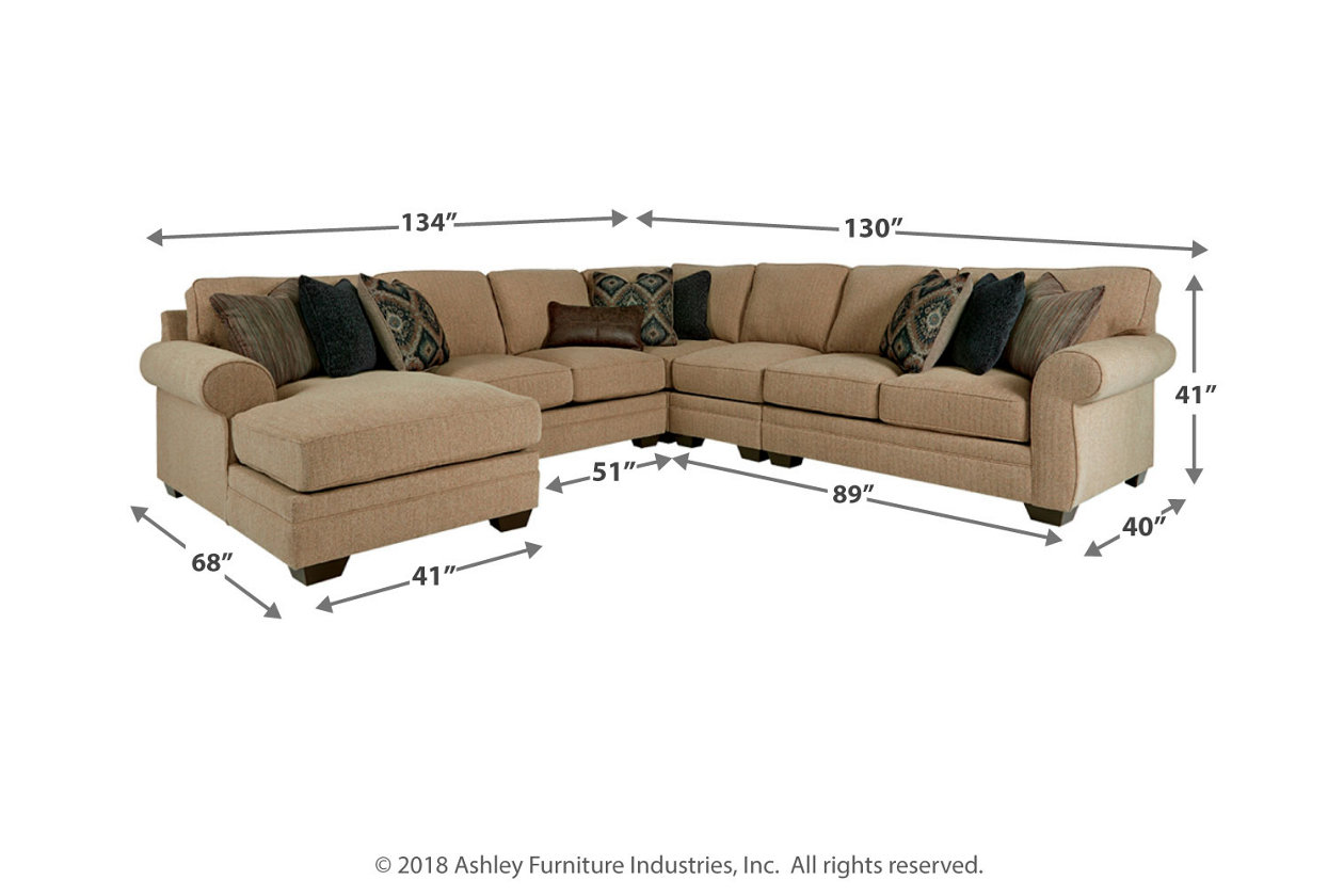 Amandine 5 Piece Sectional With Chaise Ashley Furniture Homestore