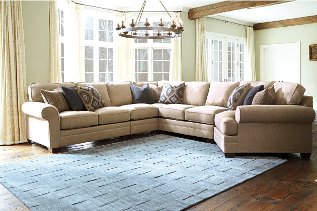 Superieur Amandine 5 Piece Sectional With Cuddler, , Large ...