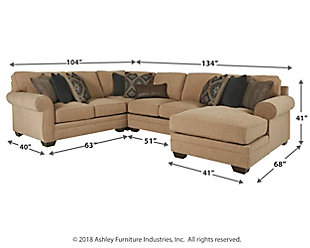 Amandine 4-Piece Sectional with Chaise, , large