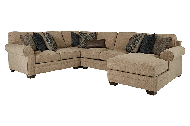 Living room furniture product shown on a white background  sc 1 st  Ashley Furniture HomeStore : 4 piece sectional with chaise - Sectionals, Sofas & Couches