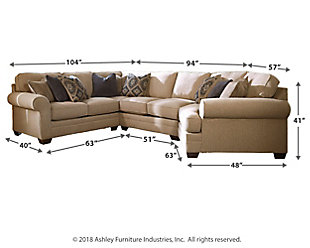 Amandine 4-Piece Sectional with Cuddler, , large