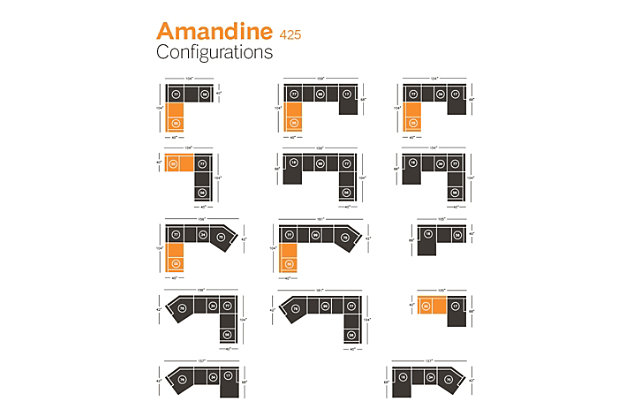 Amandine Left-Arm Facing Loveseat, , large