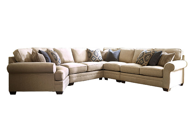 Amandine 5 Piece Sectional With Cuddler Ashley Furniture