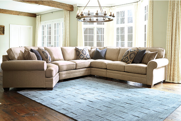 Amandine 5 Piece Sectional With Cuddler, , Large ...