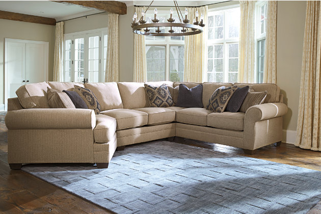 Amandine 4 Piece Sectional With Cuddler Ashley Furniture