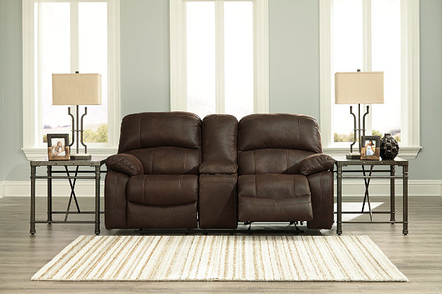 Zavier Glider Reclining Loveseat with Console by Ashley H...