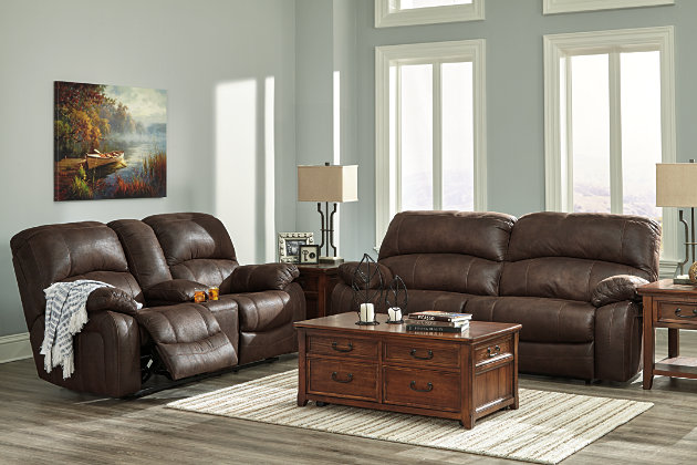 Truffle Zavier Reclining Sofa View 4 - Zavier Reclining Sofa Ashley Furniture HomeStore