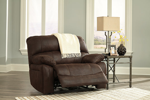 Home; Zavier Oversized Power Recliner. Wide Seat Powered Reclining Chair in Distressed Brown Leather & Zavier Oversized Power Recliner | Ashley Furniture HomeStore islam-shia.org