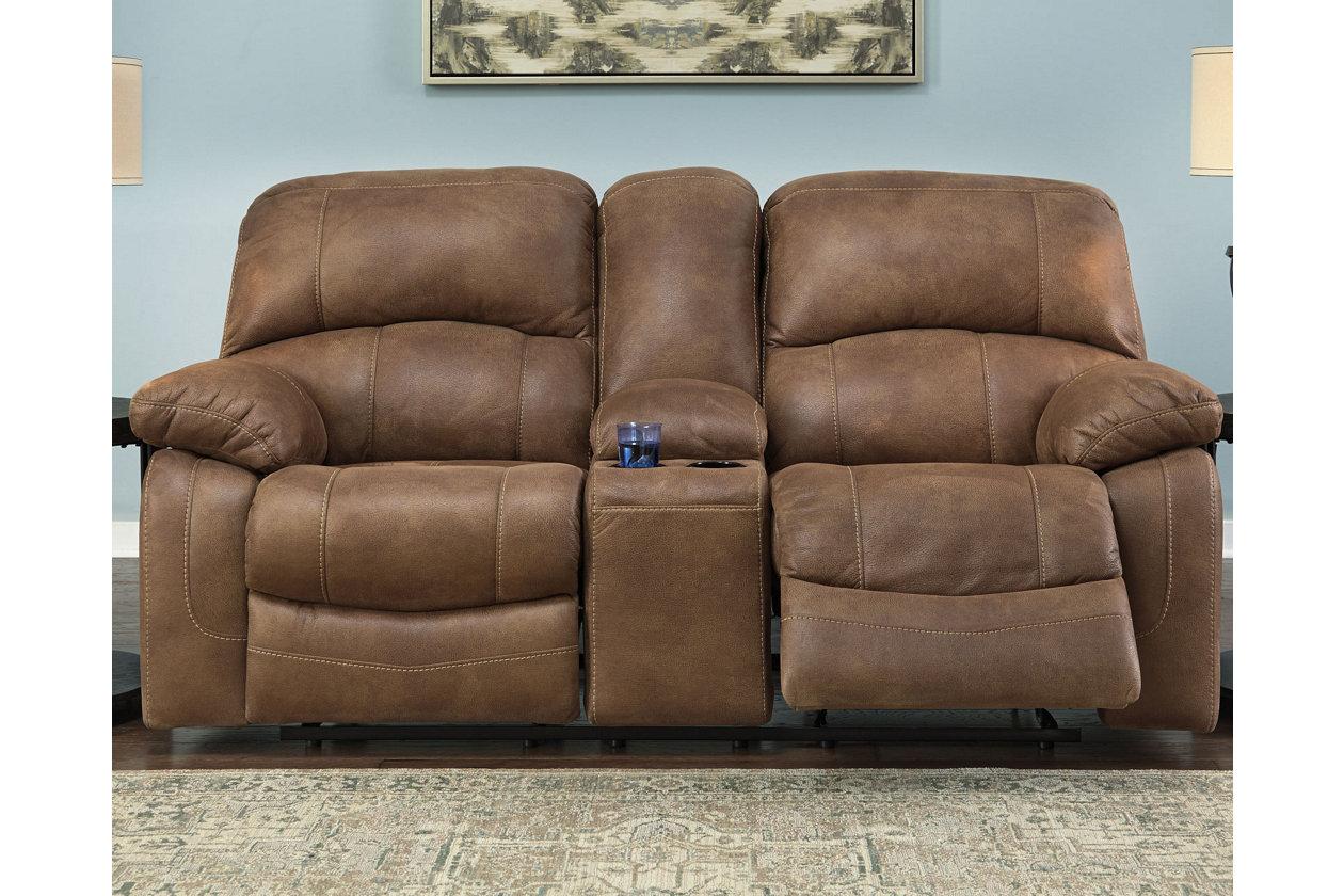 Cool Zavier Glider Reclining Loveseat With Console Ashley Inzonedesignstudio Interior Chair Design Inzonedesignstudiocom