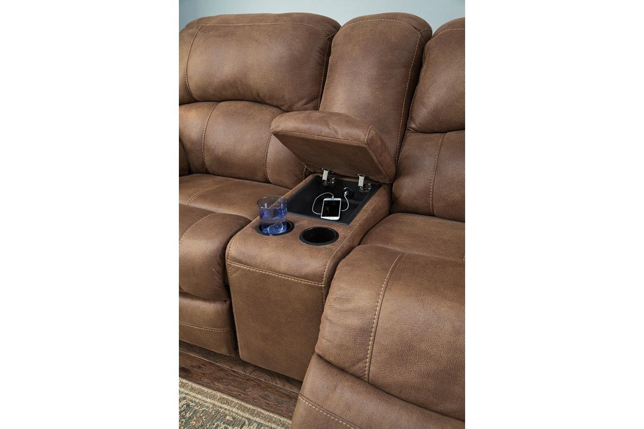 Remarkable Zavier Glider Reclining Loveseat With Console Ashley Inzonedesignstudio Interior Chair Design Inzonedesignstudiocom