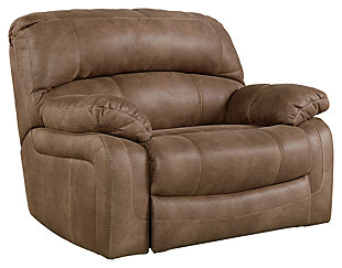 Zavier Oversized Recliner, Saddle, large