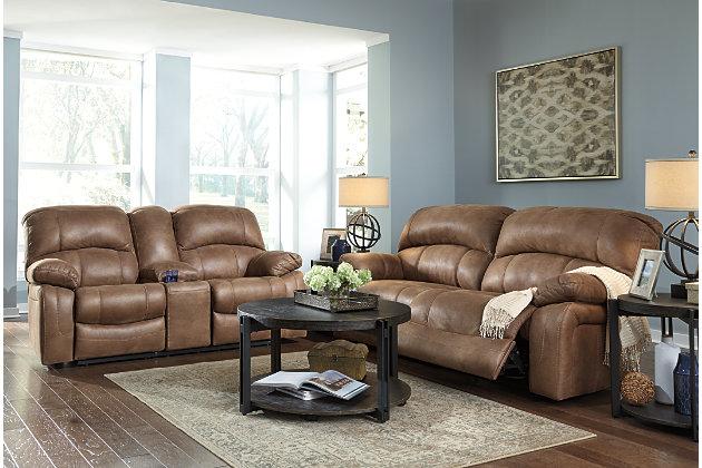 Zavier Reclining Sofa, Saddle, large