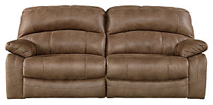 Zavier Reclining Sofa, Saddle, large