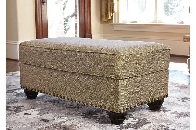 Ilena Ottoman by Ashley HomeStore, Tan, Polyester/acrylic
