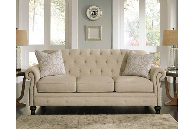 Kieran sofa ashley furniture homestore for 8 foot couch