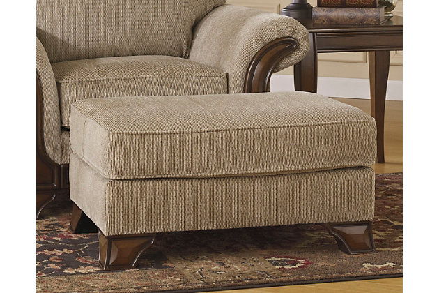 Lanett Ottoman by Ashley HomeStore, Tan, Polyester (100 %)