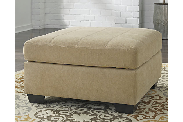 Maier Oversized Ottoman by Ashley HomeStore, Brown, Polyester/nylon
