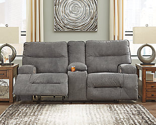 Coombs Power Reclining Loveseat with Console, , rollover