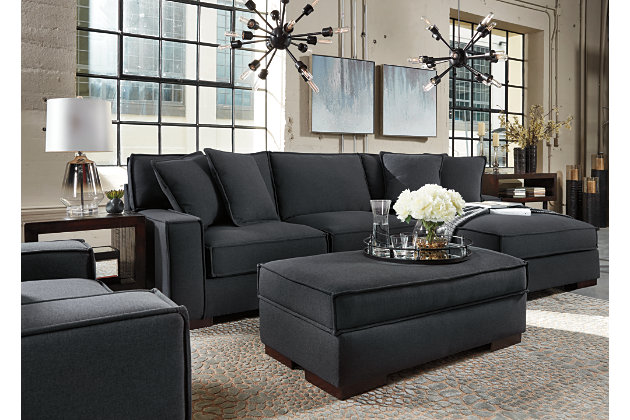 Charcoal Gamaliel 2 Piece Sectional View 3