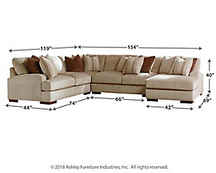 Arminio 4-Piece Sectional with Chaise, , large