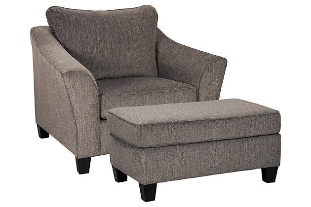 Nemoli Chair and Ottoman, , large