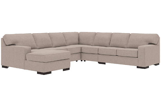 Ashlor Nuvella® 5-Piece Sectional with Ottoman, , large