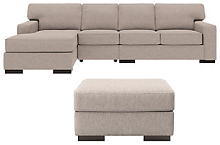 Ashlor Nuvella® 3-Piece Sectional with Ottoman, , large