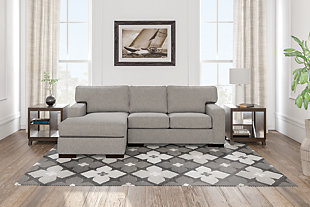 Ashlor Nuvella® 2-Piece Sectional with Chaise, Slate, large