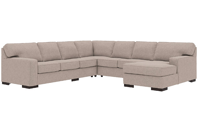Ashlor Nuvella® 5-Piece Sectional with Chaise, Slate, large