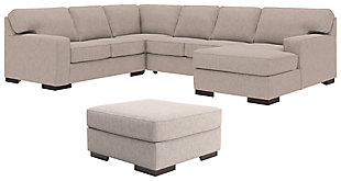 Ashlor Nuvella® 4-Piece Sectional with Ottoman, , large