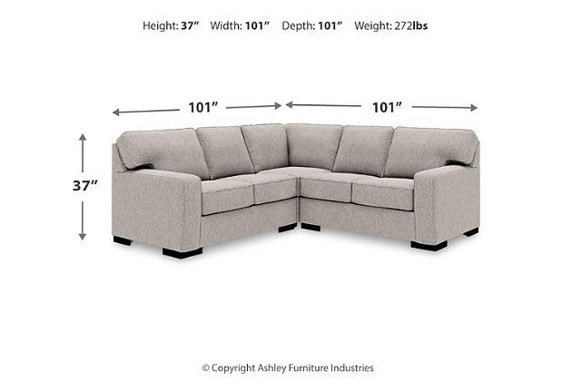 Ashlor Nuvella® 3-Piece Sectional, , large