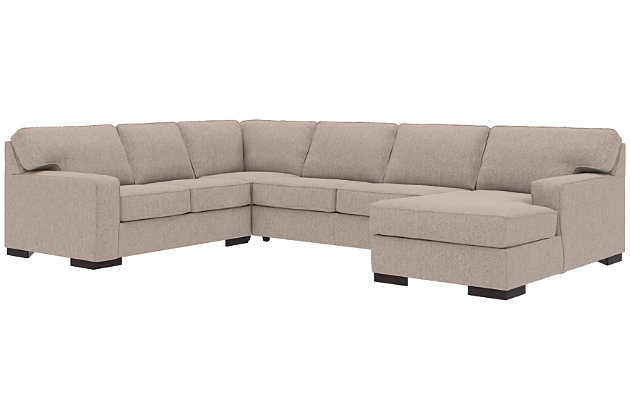 Ashlor Nuvella® 4-Piece Sectional with Chaise and Sleeper, Slate, large
