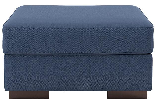 Ashlor Nuvella® Oversized Ottoman, Indigo, large