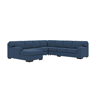 Ashlor Nuvella® 5-Piece Sectional with Chaise, Indigo, rollover