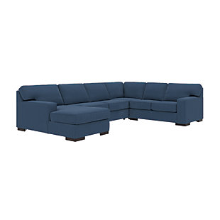 Ashlor Nuvella® 4-Piece Sectional with Chaise and Sleeper, Indigo, rollover