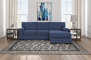 Ashlor Nuvella® 2-Piece Sectional with Chaise, Indigo, large