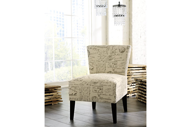 French Script Inspired Chic Accent Chair