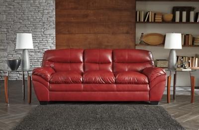 Ashley Tassler Sofa, Crimson