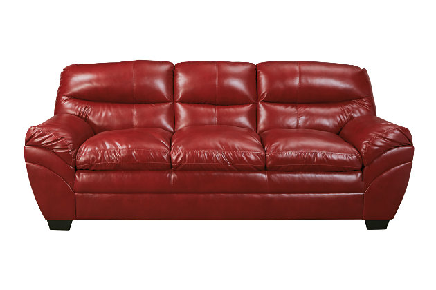 Deep Crimson Red Leather Sofas Tassler Collection