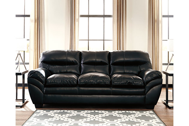 Black Tassler DuraBlend® Sofa View 1