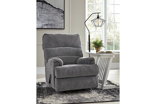 Man Fort Recliner, Graphite, large