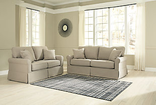 Large Senchal Sofa And Loveseat Set Rollover