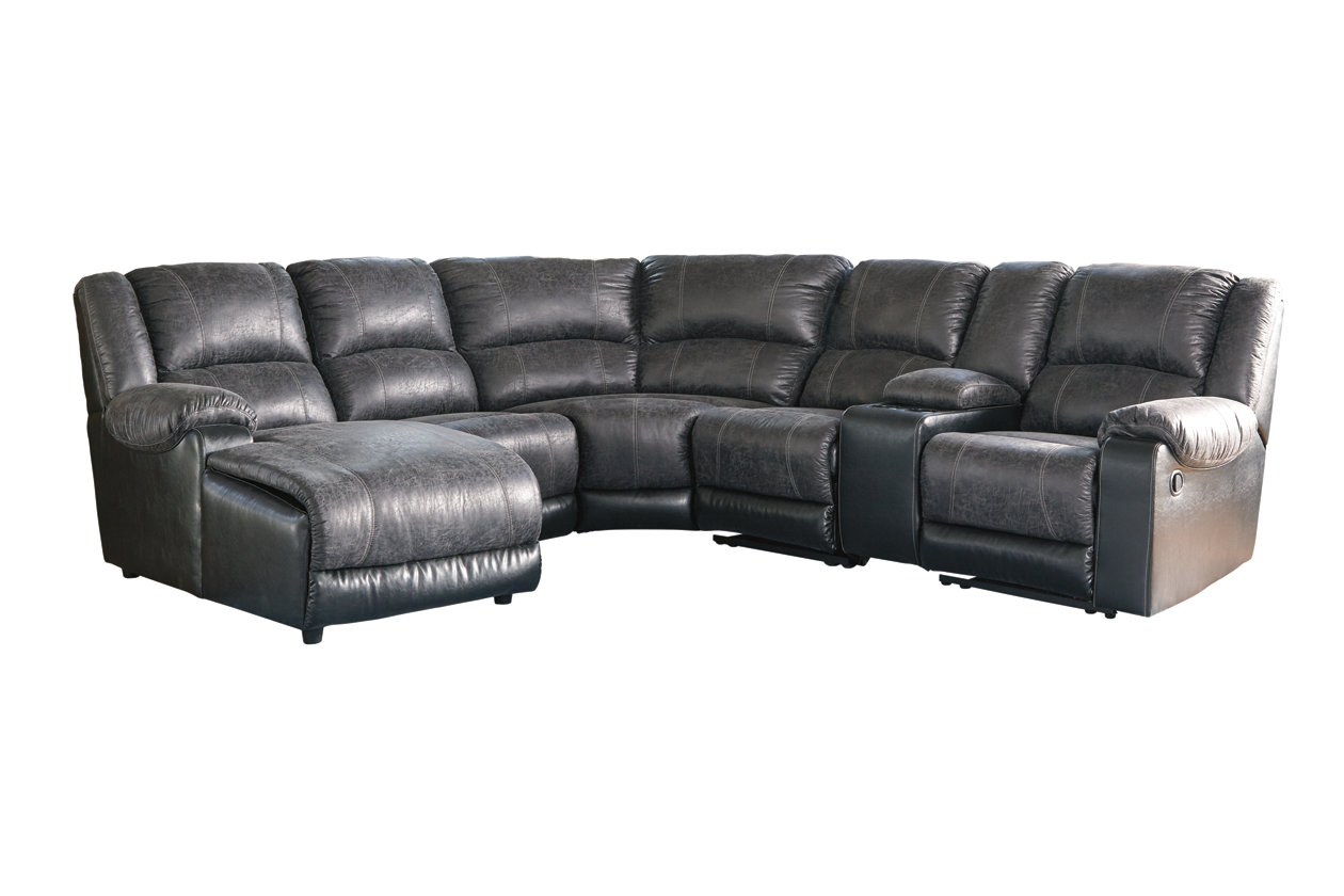 Groovy Nantahala 6 Piece Reclining Sectional With Chaise Ashley Gmtry Best Dining Table And Chair Ideas Images Gmtryco