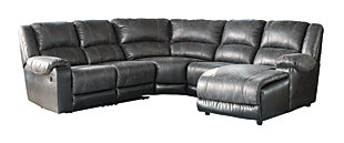 Nantahala 5-Piece Sectional, Slate, large