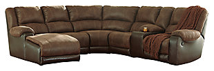 Nantahala 6-Piece Sectional, Coffee, large