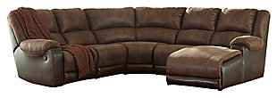 Nantahala 5-Piece Sectional, Coffee, large