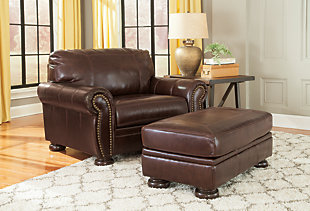 Banner Oversized Chair Ottoman, , large