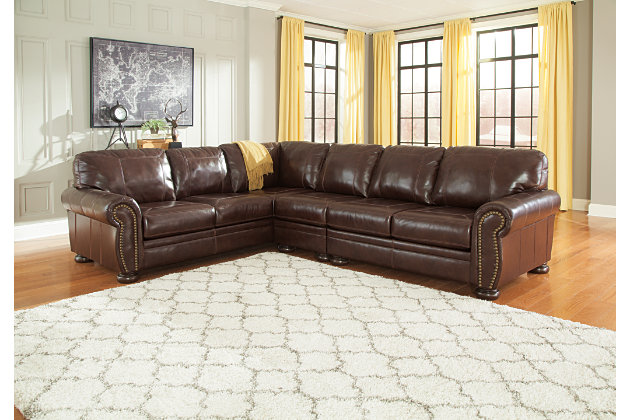 Banner 3-Piece Sectional by Ashley HomeStore, Brown