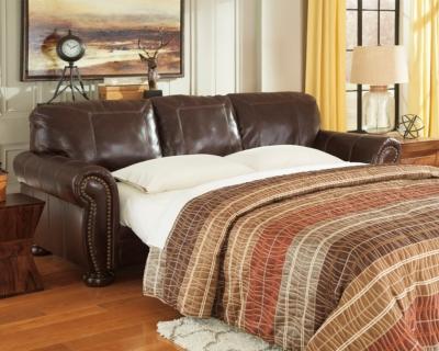 Ashley Banner Queen Sofa Sleeper, Coffee Leather