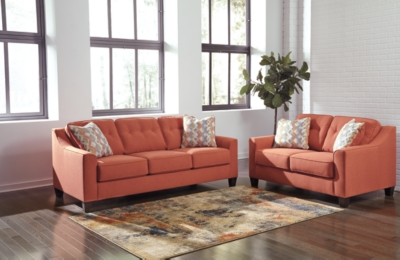 Loveseat Rust Sofa Product Photo 619